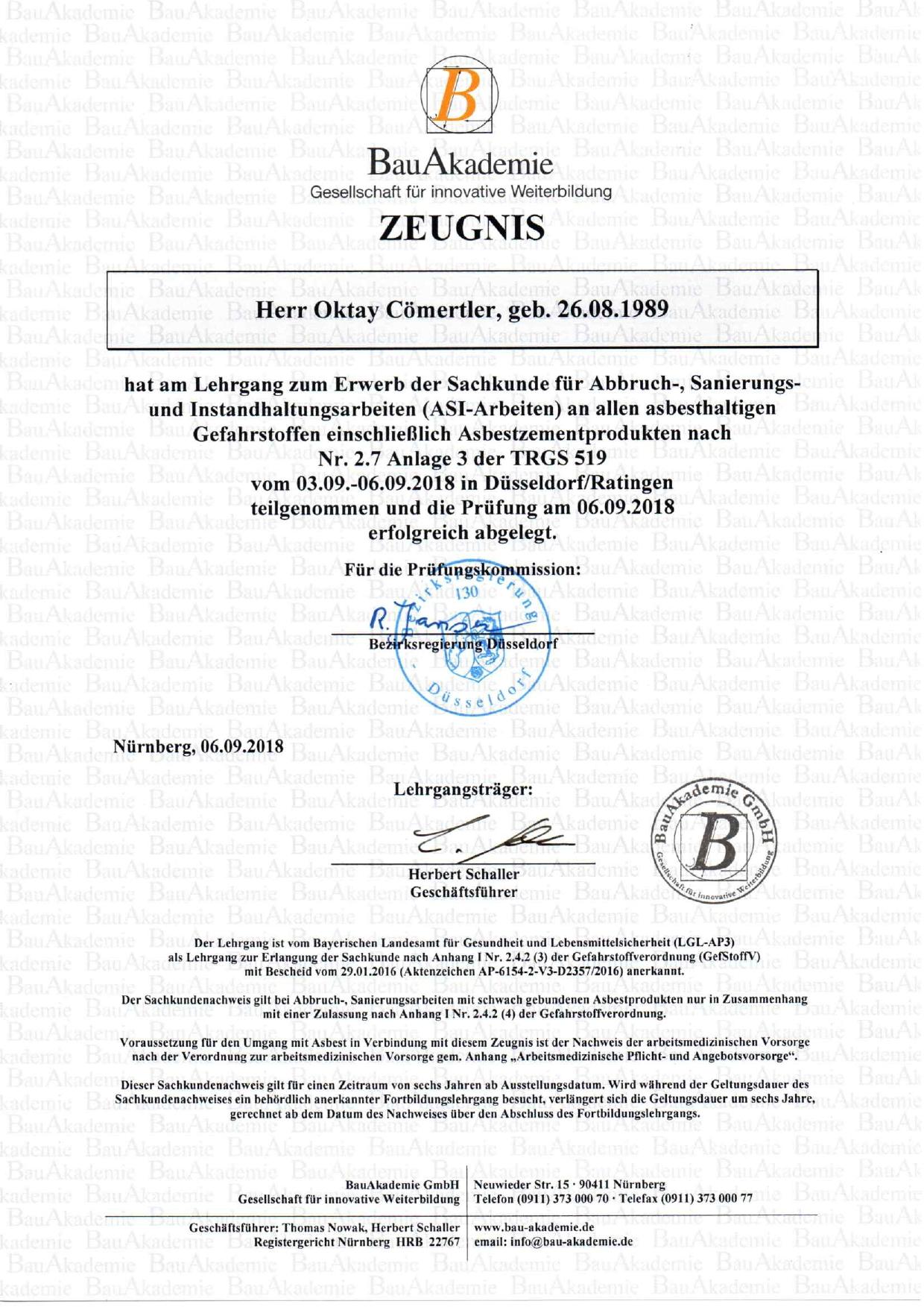 Zertifikat TRGS 519 Oktay Cömertler_page-0001